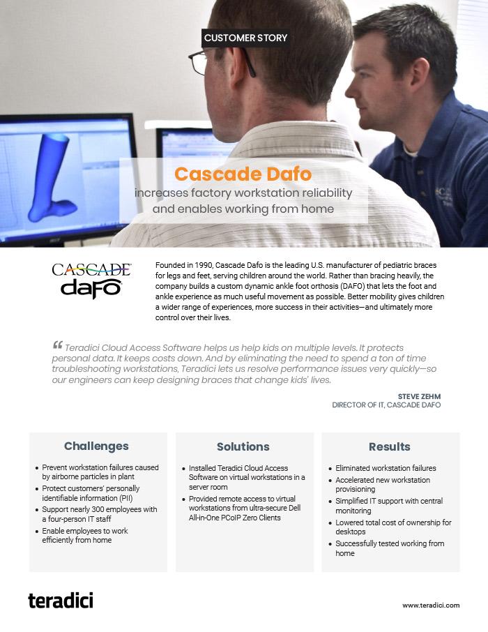 Cascade Dafo PDF