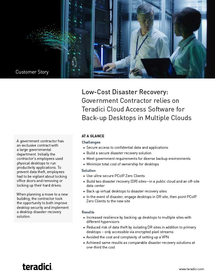 Government Contractor Customer Story