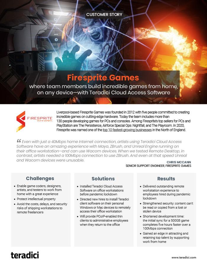Firesprite Games Customer Story