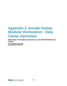 Amulet Hotkey Modular Workstation Solution Brief