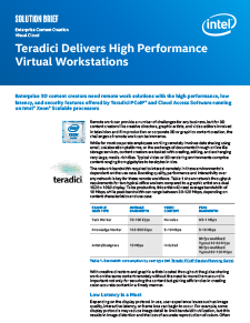 Intel Teradici Virtual Workstation Solution