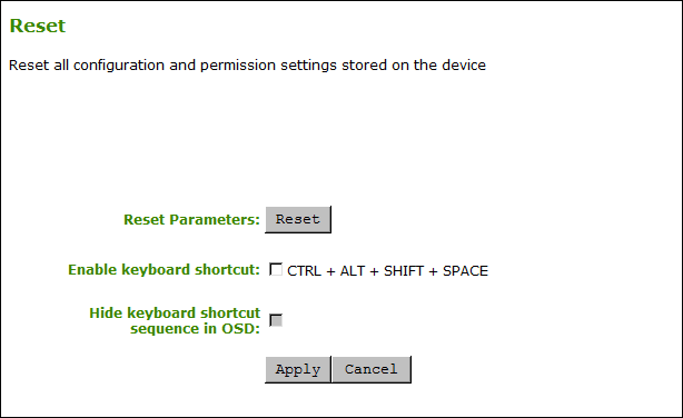 Resetting Device Parameters - PCoIP Zero Client Firmware 6 3