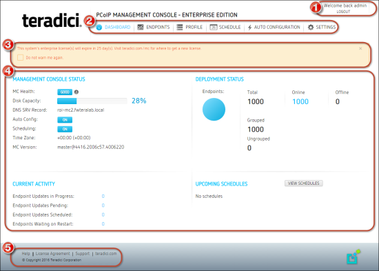 using the pcoip management console dashboard rh teradici com teradici pcoip management console user manual