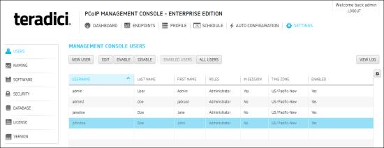 managing pcoip management console users rh teradici com
