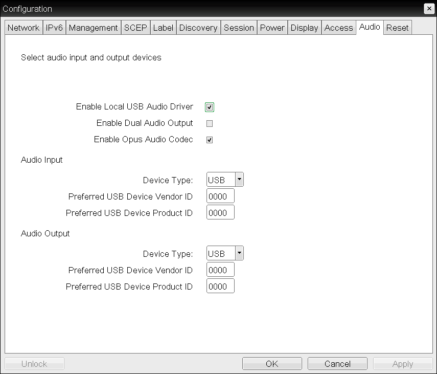 OSD: Audio Settings