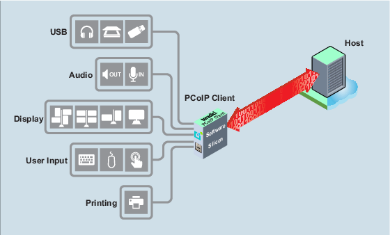 Client Features Supported by PCoIP